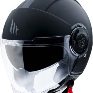 CASCO MT OF502SV VIALE SV SOLID A1 NEGRO MATE XS